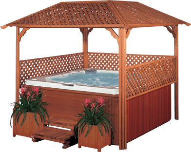 Gazebo showroom screened gazebos outdoor gazebos for Cal spa gazebo