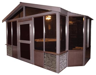 10x14 tuscany black pine spas for Cal spa gazebo