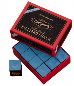 Brunswick Billiard Chalk – 144 piece – Blue - Billiard Supplies