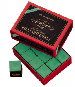 Brunswick Billiard Chalk – 12 piece – Green - Billiard Supplies