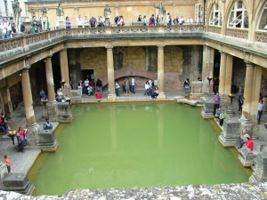 Roman Public Baths much like Seattle hot tubs only cleaner!