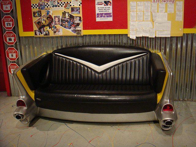 game room decor classic car