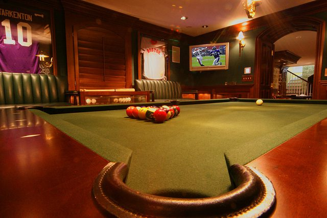 game room decor sports man cave