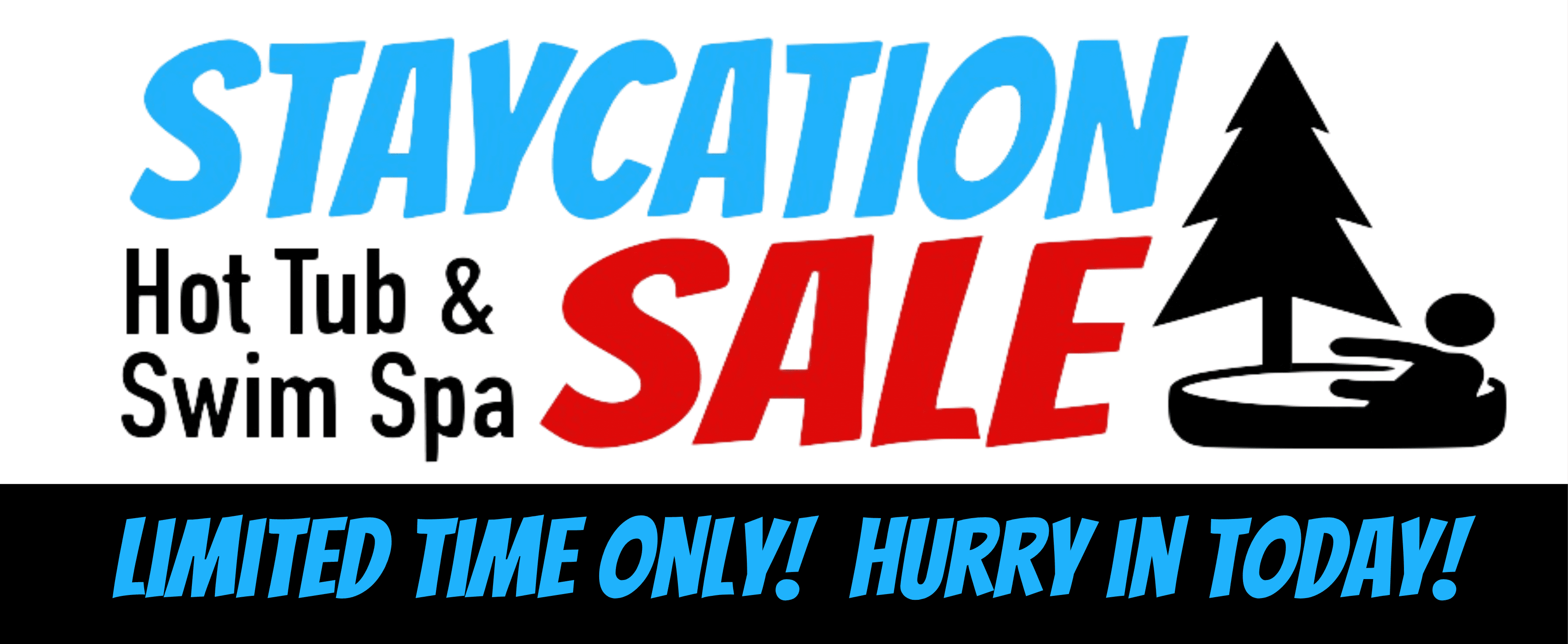 Hot Tub and Swim Spa Sale - Staycation Sale at Black Pine Spas